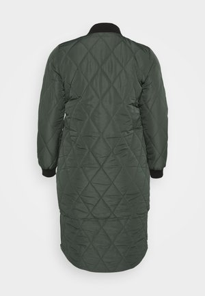 CARCARROT LONG QUILTED JACKET - Cappotto classico - forest night