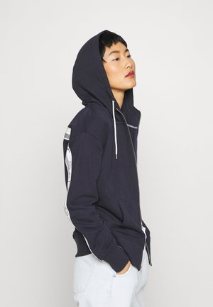 STRIPES FULL ZIP HOODIE - Zip-up hoodie - evening blue