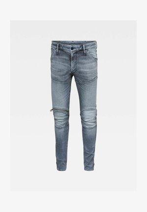 5620 3D ZIP KNEE SKINNY - Jeans Skinny Fit - grey denim