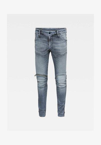 5620 3D ZIP KNEE SKINNY - Skinny džíny - grey denim