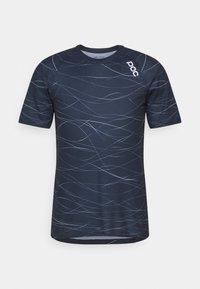 POC - PURE TEE - T-shirt imprimé - lines turmaline navy - 0