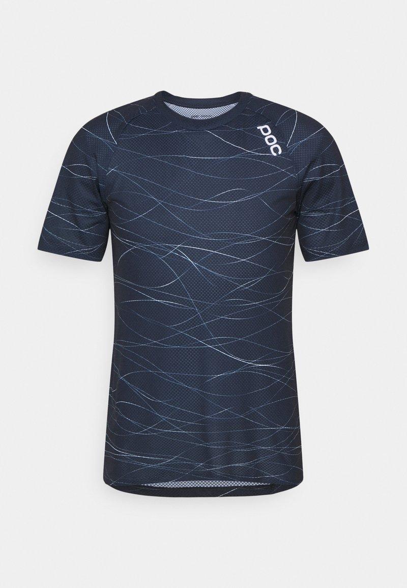 POC - PURE TEE - T-shirt imprimé - lines turmaline navy