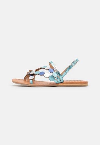 HOLO - T-bar sandals - ciel/multicolor
