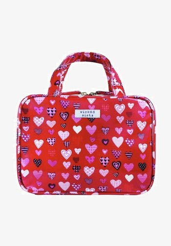 LOTS OF LOVE RED MEDIUM HOLD ALL - Wash bag - rot