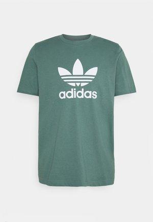 TREFOIL UNISEX - T-shirt imprimé - hazy emerald/white