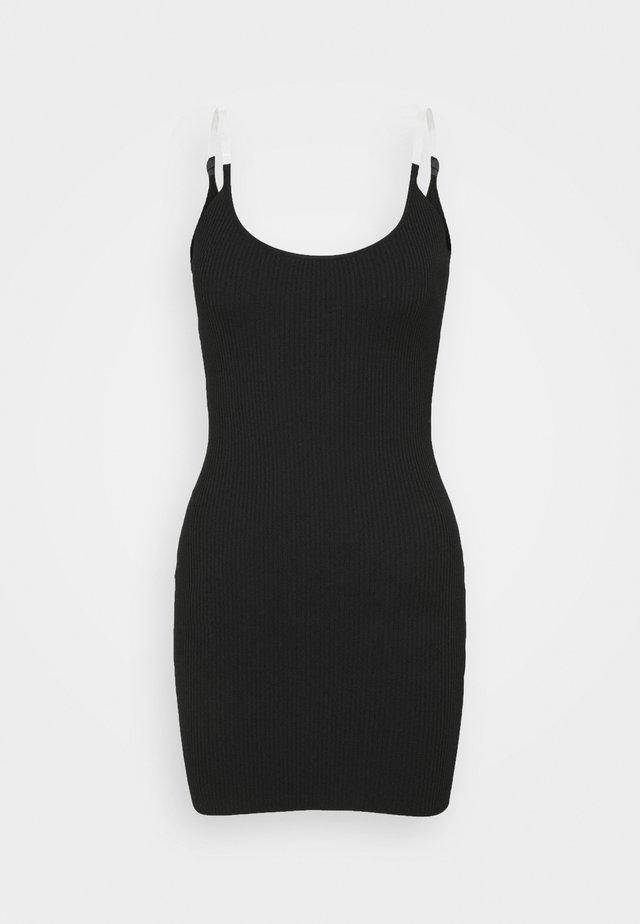 MINI DRESS - Sukienka dzianinowa - black