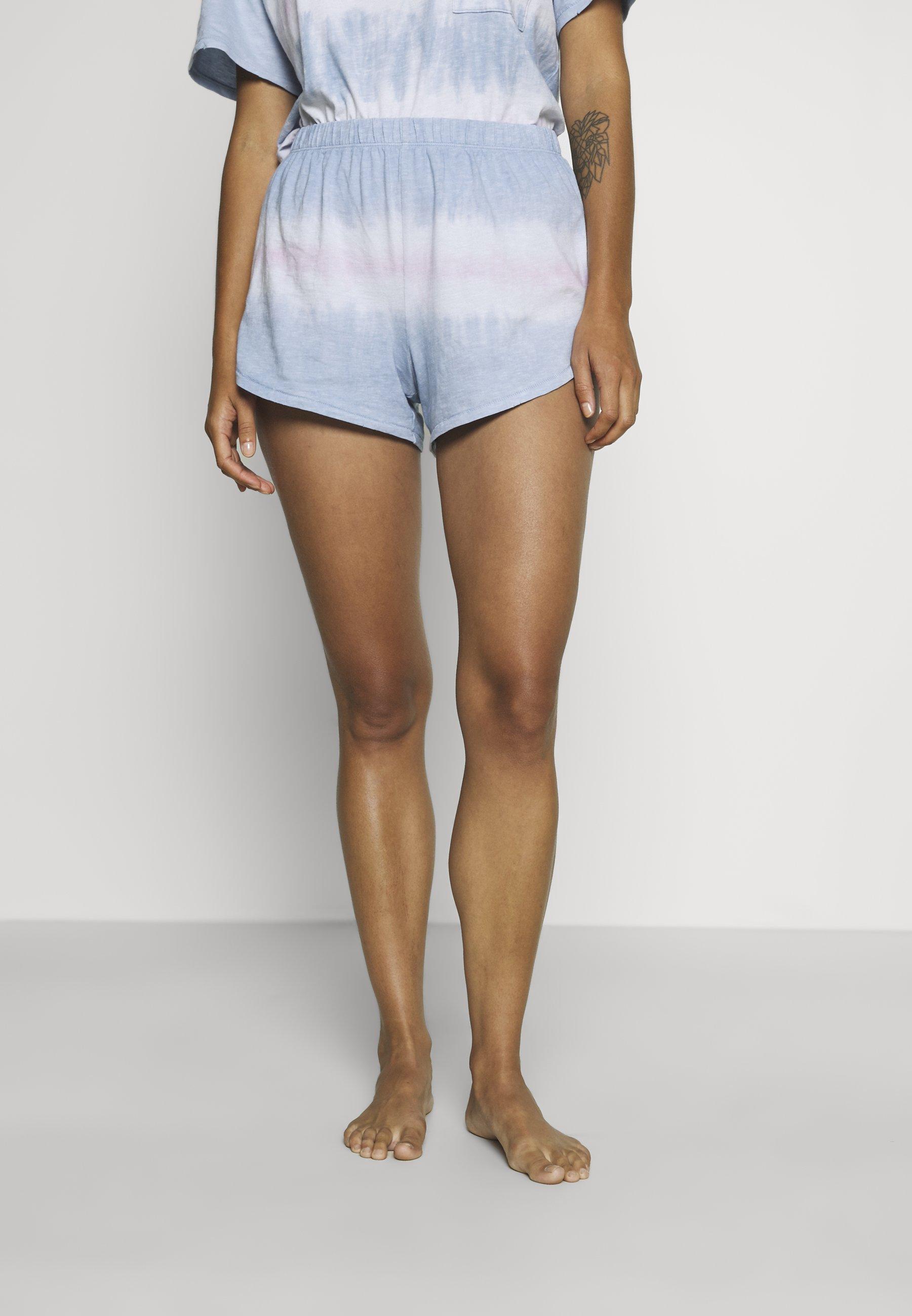 Donna TIE DYE BOXER - Pantaloni del pigiama - cloudy blue