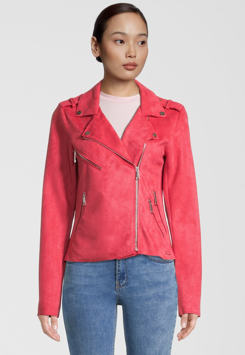 Rino&Pelle - Faux leather jacket - teaberry