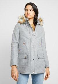 Vila - Classic coat - light grey melange - 2