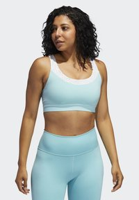 adidas Performance - DON'T REST PRIMEBLUE BRA - Medium support sports bra - blue - 0