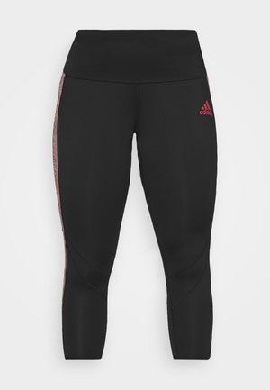 Leggings - black/scarlet