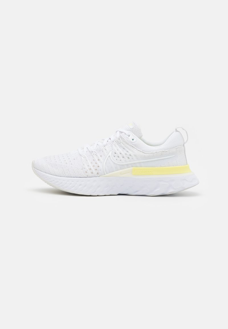 Nike Performance - REACT INFINITY RUN FK 2 - Obuwie do biegania treningowe - white/platinum tint/light zitron