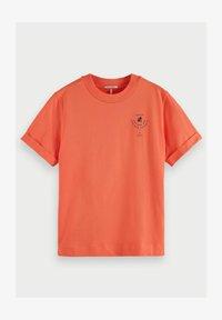 Scotch & Soda - Print T-shirt - salmon - 0