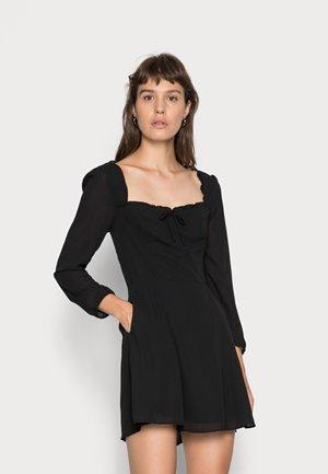 PORTRAIT NECK  - Day dress - black