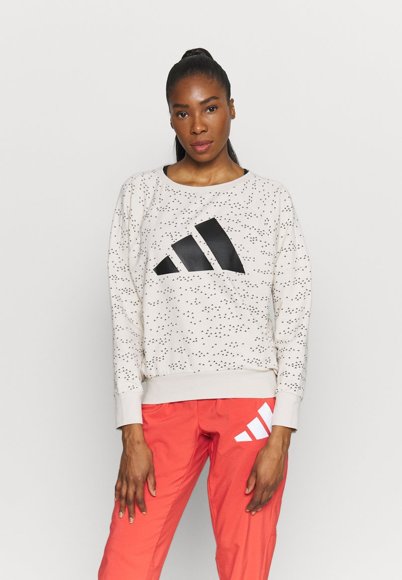 adidas Performance - WIN CREW - Sweatshirt - mottled grey