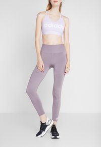adidas Performance - Legginsy - purple - 2