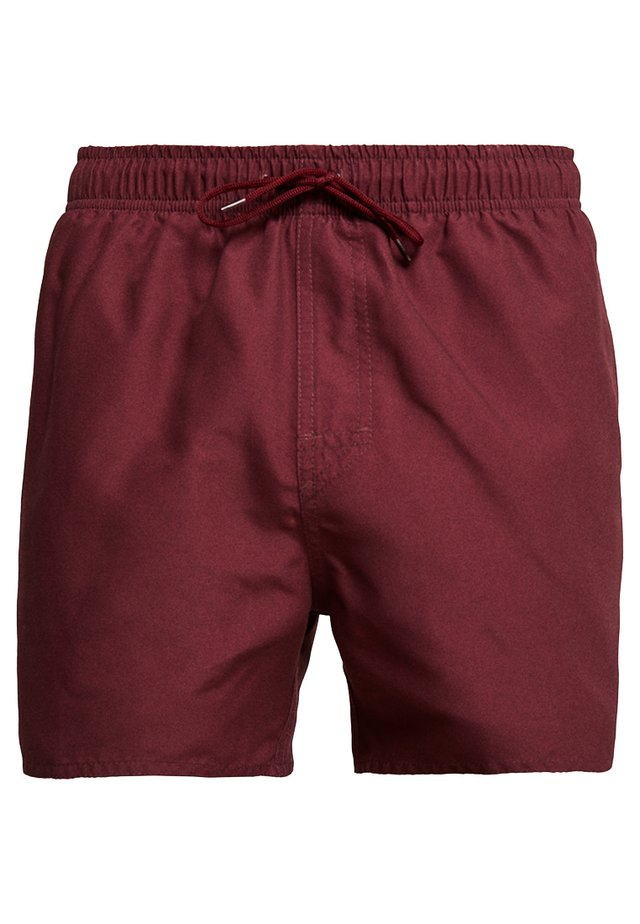 VOLLEY - Swimming shorts - burgundy