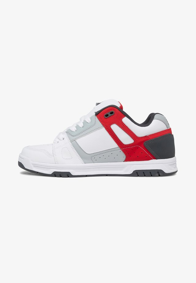 Chaussures de skate - white/grey/red