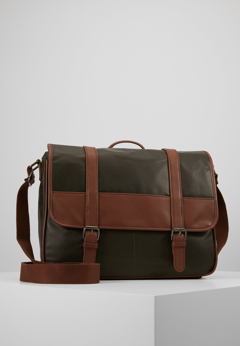 Pier One - Briefcase - oliv/cognac