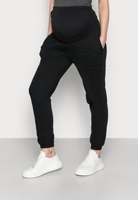 Anna Field MAMA - 2 PACK - LOOSE FIT JOGGERS - OVERBUMP - Tracksuit bottoms - black/bordeaux - 3