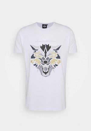 WOLF TEE - Triko spotiskem - white/gold