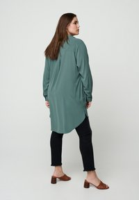 Zizzi - Button-down blouse - dark green - 2