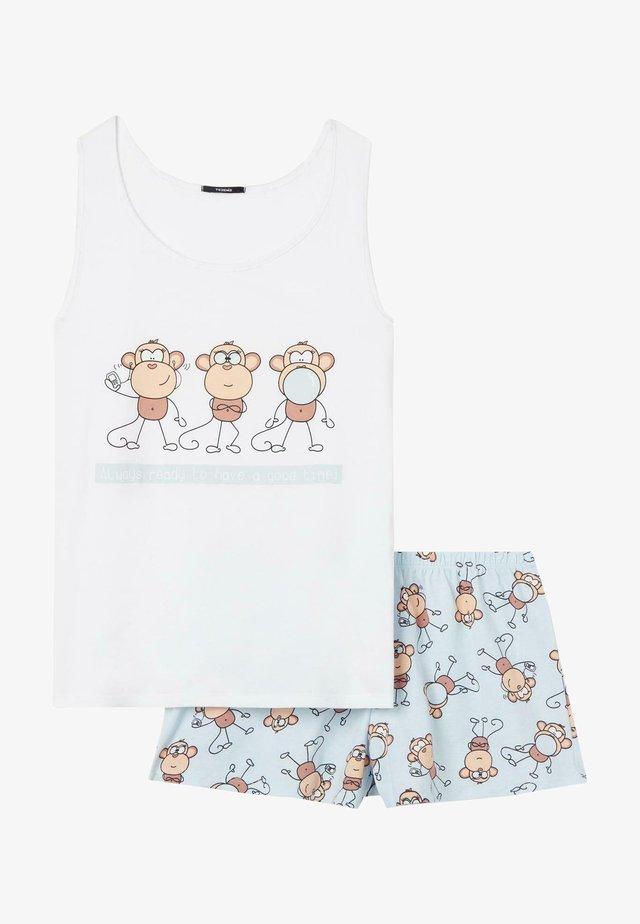 SET - Pyjama - bianco st monkeys