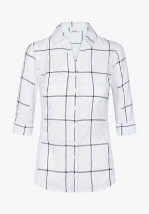 MIT KAROMUSTER - Button-down blouse - weiß