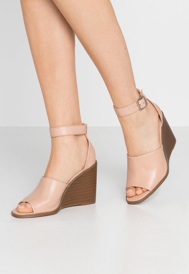 GARLAND - High heeled sandals - dark nude