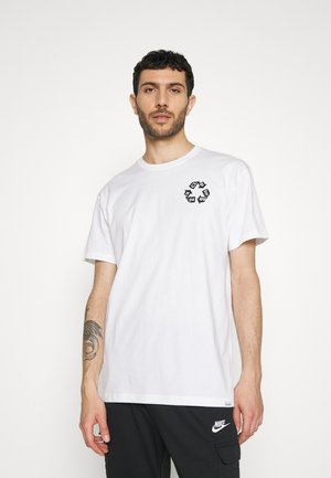 RECYCLE - T-shirt med print - white
