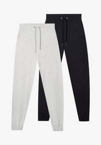 Stradivarius - 2 PACK - Tracksuit bottoms - black - 4