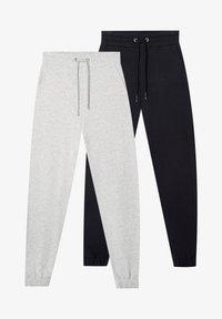 2 PACK - Teplákové kalhoty - black