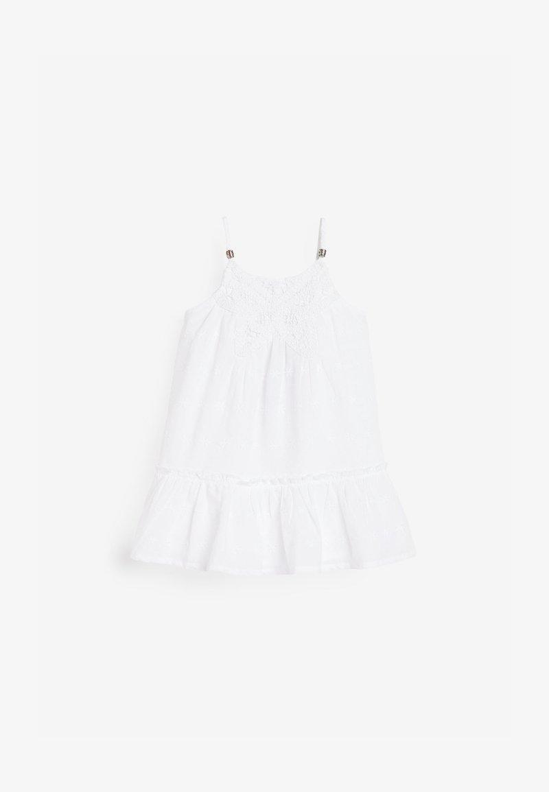 Next - BUTTERFLY CROCHET - Day dress - white