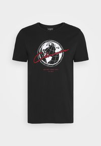 WORLDWIDE TEE - Print T-shirt - black
