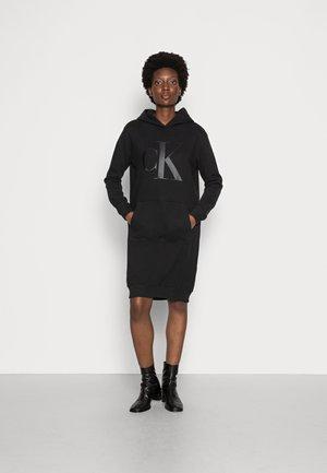 HOODIE DRESS UPSCALE  - Day dress - black
