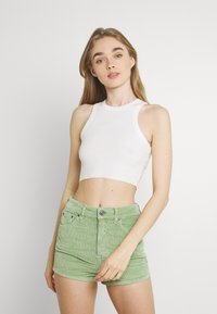 BDG Urban Outfitters - SUPER CROP RACER TANK - Top - off white - 0