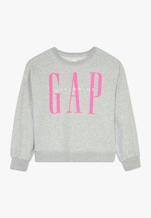 GIRL LOGO DOLMAN CREW - Sweatshirt - grey heather