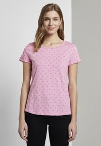 TOM TAILOR DENIM - SLUB  - Print T-shirt - pink - 0
