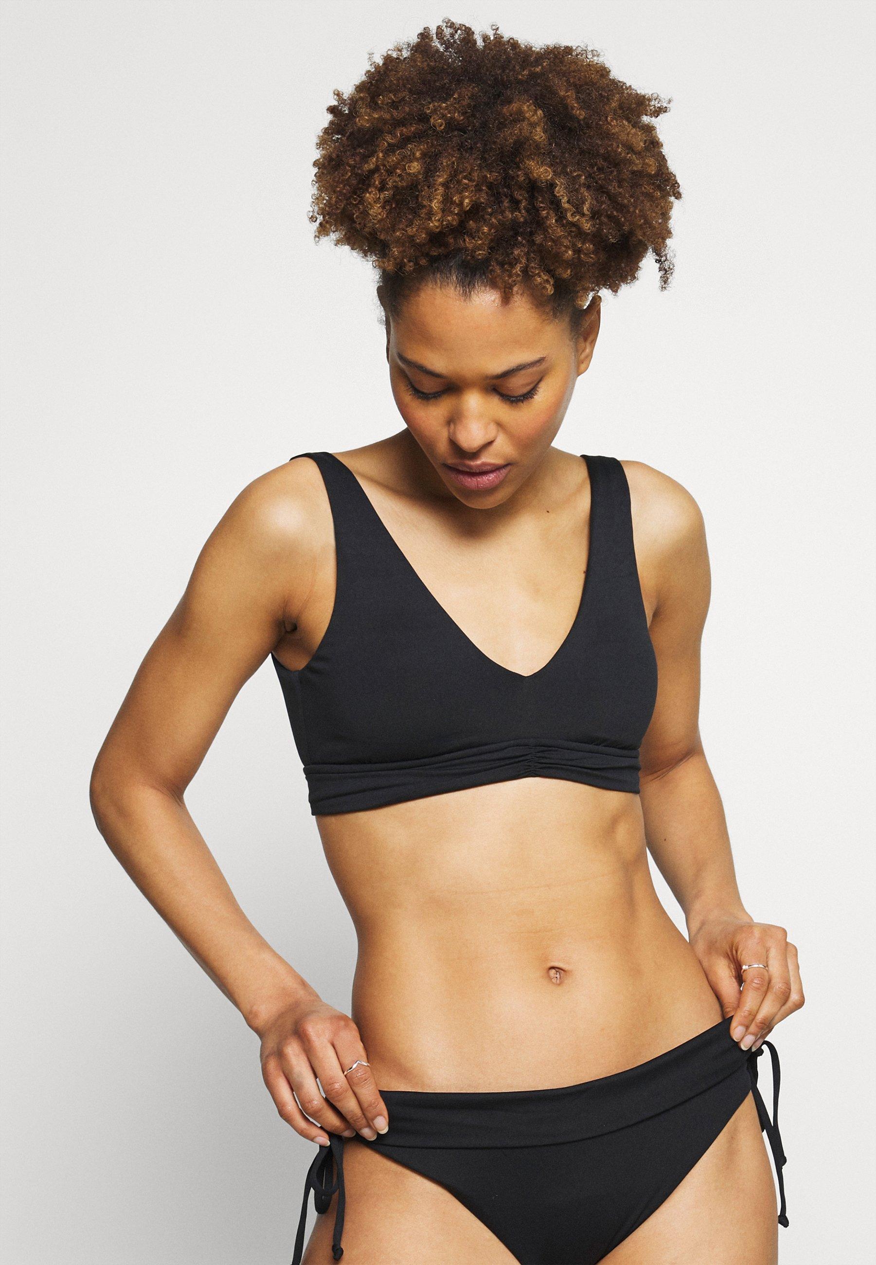 Women V NECK CROP - Bikini top