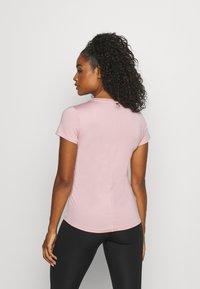 Nike Performance - ONE SLIM - Basic T-shirt - pink glaze/white - 2