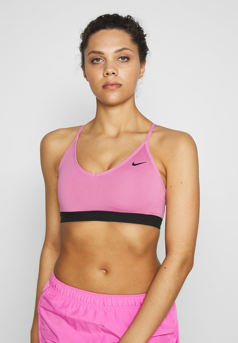 Nike Performance - INDY BRA - Sports bra - magic flamingo/black