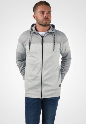 BARIS - Zip-up hoodie - grey melange