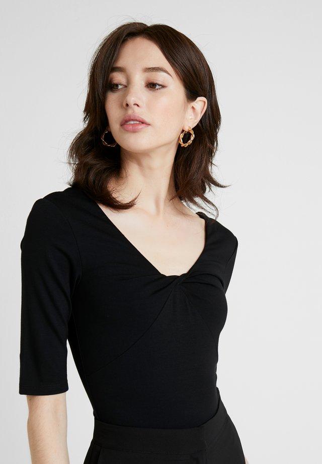 BODYSUIT - T-shirt z nadrukiem - black