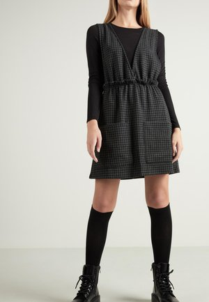 Day dress - - 063u - black/grey houndstooth