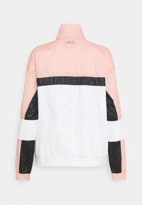 Fila - JADA BLOCKED JACKET - Training jacket - coral cloud/bright white/black - 7