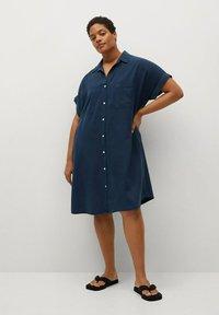 Violeta by Mango - UVA - Košilové šaty - dunkles marineblau - 1