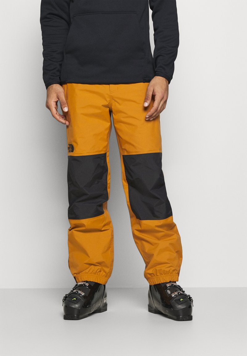 The North Face - UP & OVER PANT TIMBER - Snow pants - tan/black