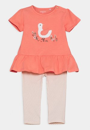 SET - Print T-shirt - apricot/light pink