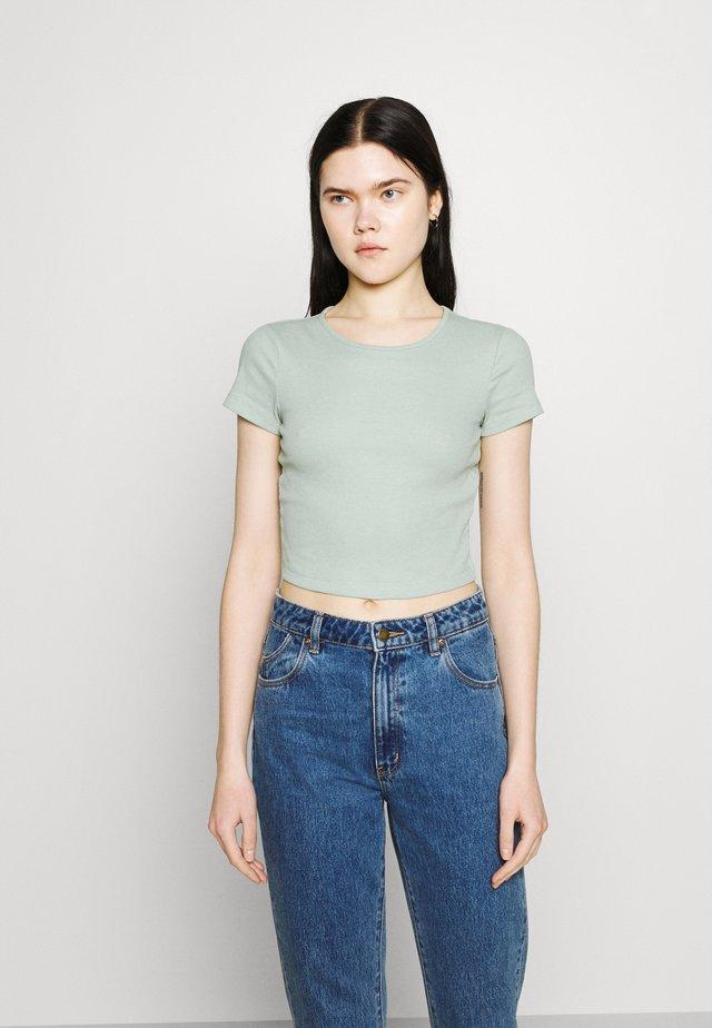 Basic T-shirt - mottled light green