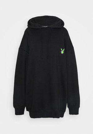 PLAYBOY OVERSIZED LOGO HOODY DRESS - Korte jurk - black